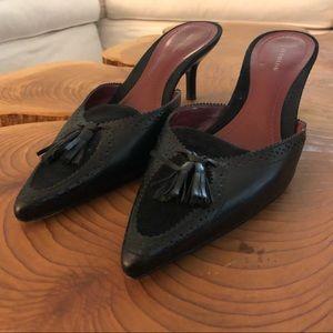 Ann Taylor 7M leather/suede tassled spectators